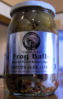 frog balls - pickled brussel sprouts
