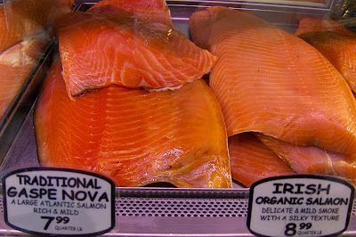 russ and daughters traditional gaspe nova lox and irish organic salmon