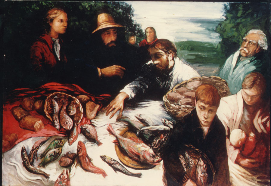 Icons imagery feeding of the 4000 for Loves and fishes