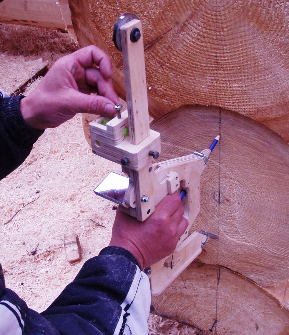 Изготовление плотницкой черты