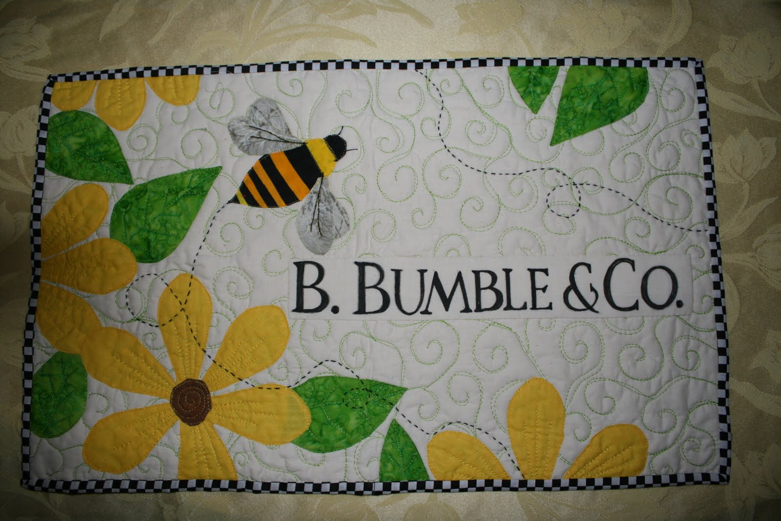 Buzzing and Bumbling: Name Tags, Business Cards, and Quilts