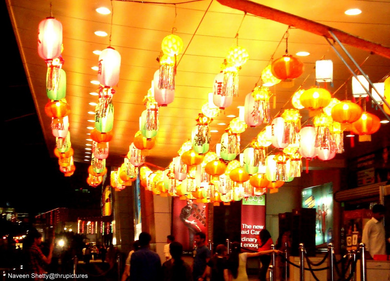 In the above picture you can see the Chinese style lanterns hanging ...