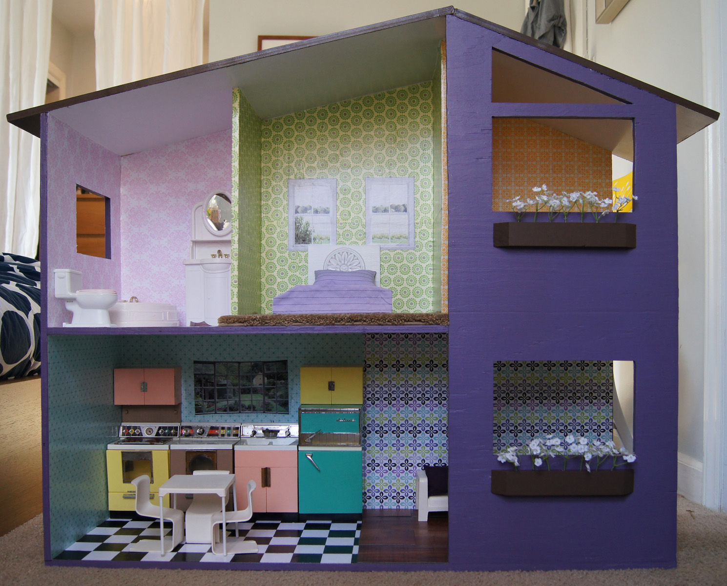 Sutton grace mod doll house plans for Jugendzimmer playmobil