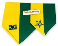 Bandana para cães e gatos, nas cores da bandeira do Brasil