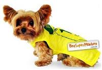 Camisa de seleção brasileira para cães e gatos