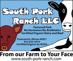 Certified Organic dairy, beef and pork . Whole, half or by the piece