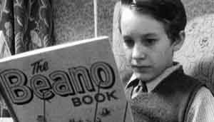BBC Archive footage of boy reading The Beano