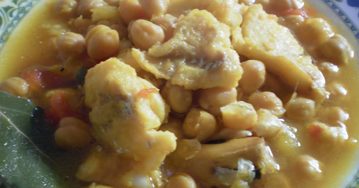 Mi cocina potaje de garbanzos con bacalao - Bacalao con garbanzos y patatas ...