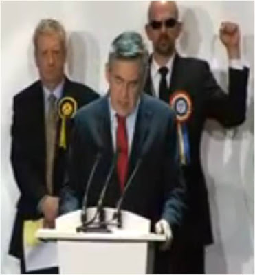 UK election Gordon Brown count Land Is Power Derek Jackson