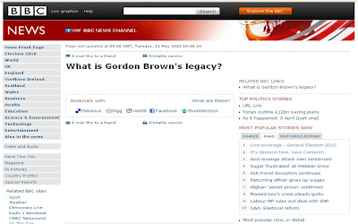 BBC Gordon Brown's legacy blank page
