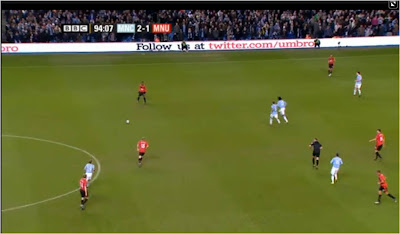 Umbro beside the pitch Twitter ad Manchester City