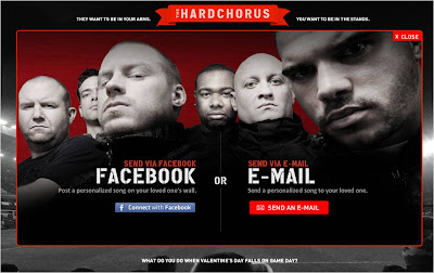 PUMA HardChorus Facebook Connect and email sharing