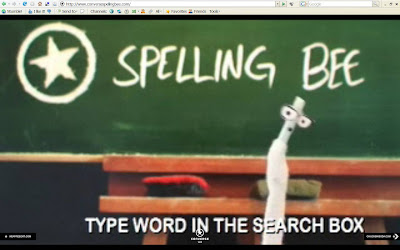 88c68dc86b89 This video introduces an online Converse spelling Bee. The video tells  users to spell the word  ludicrous  and enter it into a Search Engine.