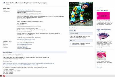 Roller Blading Dwarf Facebook Page