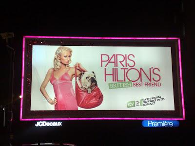 Paris Hilton London big pink billboard