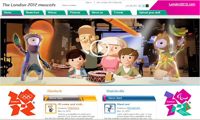 London 2012 Olympics mascot site