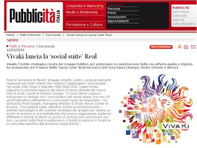 Pubblicita Italia VivaKi REAL Social