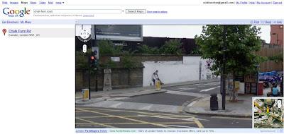 Streetview Banksy Maid in Camden