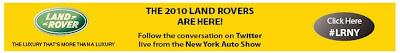 Land Rover #LRNY Twitter hash tag
