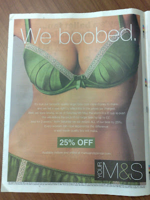 Marks and Spencer We Boobed ad