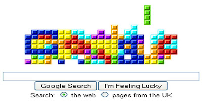 Tetris Google logo