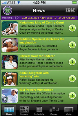 Wimbledon iPhone App News