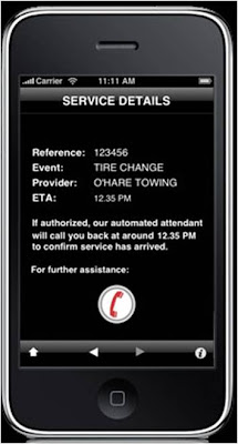 Mini Road Assist iPhone App confirmation of service