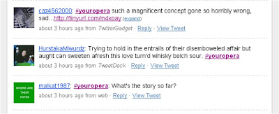 Twitter Opera youropera Twitter Search comment