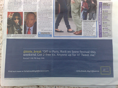 Eurostar Little Breaks newspaper Twitter ads
