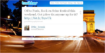 Eurostar Little Breaks tweet