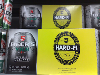 Becks music inspired labels HardFi packaging