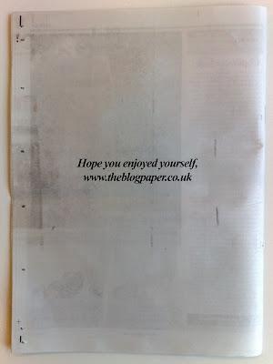 theblogpaper back page