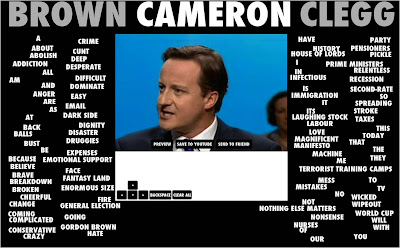 Speechbreaker David Cameron