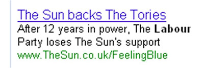 The Sun Feeling Blue Google ad