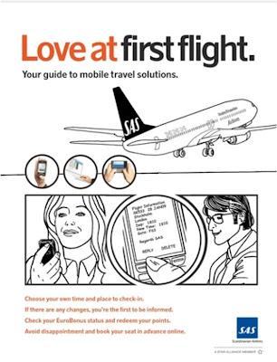 SAS Scandinavian airlines mobile Love At First Flight