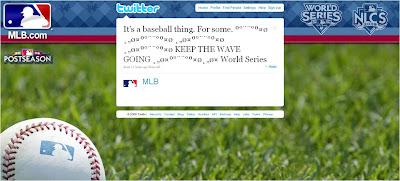 MLB Keep The Wave tweet