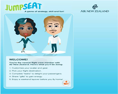 Jump Seat Air New Zealand Facebook game