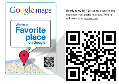 Google local favorites business QR code stickers