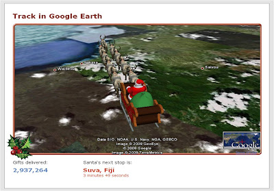 NORAD Santa tracking 2009