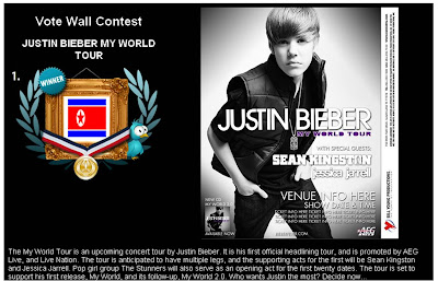 Justin Bieber North Korea vote