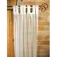 white gauze curtains tab-top iron curtain rod