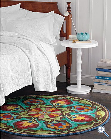 rules for using a round rug  bossy color annie elliott interior, Rug/
