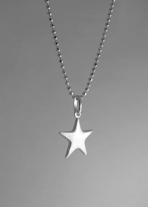 halsband stjärna silver