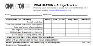 workshop evaluation