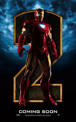iron man 2 movie postor, robert downey jr, mark vi armor