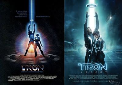 Tron and Tron Legacy Movie Poster