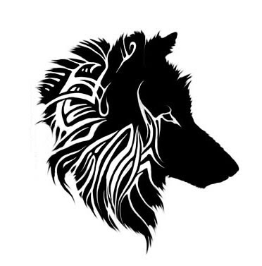 wolf tattoo designs. Hairy Wolf Tattoo Design