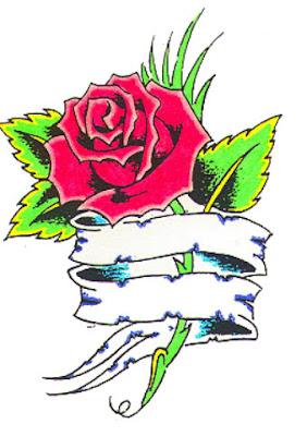 tatuaże wzory czerwone róże