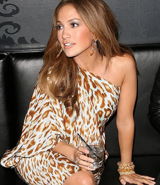 Jennifer Lopez Leopard Print Dress