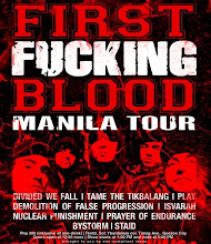 FIRST BLOOD MANILA TOUR!